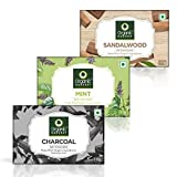 Organic Harvest Sandal, Mint and Charcoal Bathing Bar, 110 g (Pack of 3)