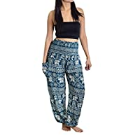 Lanna Thai Harem Trousers with Smock Waist and Bohemian Style 26
