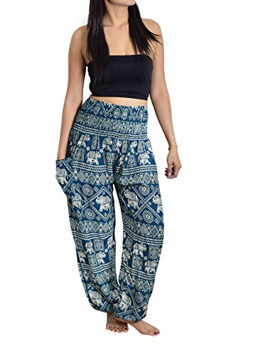 Lanna Thai Harem Trousers with Smock Waist and Bohemian Style 1