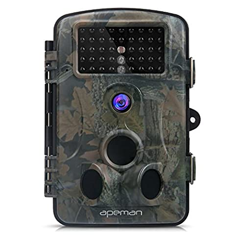 APEMAN Trail Camera 12MP 1080P Great Waterproof Hunting & Wildlife Camera with 120° Wide Angle 44 Pcs IR LEDs Night Version up to