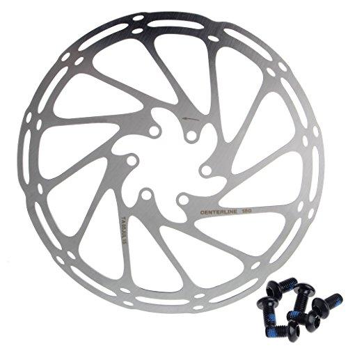 Siwetg Inoxidable 180mm 6 Pernos Disco De Freno Rotores Carretera Montaña Bicicleta Bicicleta Ciclismo...