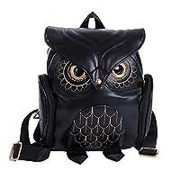 YUHUAWYH Fashion Owl Cartoon Backpack Mini Student Bag Girl