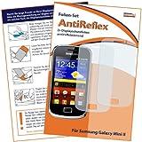 2 x mumbi Displayschutzfolie Samsung Galaxy mini 2 S6500 Schutzfolie AntiReflex antireflektierend