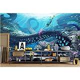 YShasaG Seidenwandbild Benutzerdefinierte Wandbild 3D Fototapete Unterwasserwelt Anime Decor Malerei 3D Wandmalereien Tapete Für Wohnzimmer Wände 3 D,275cm*252cm