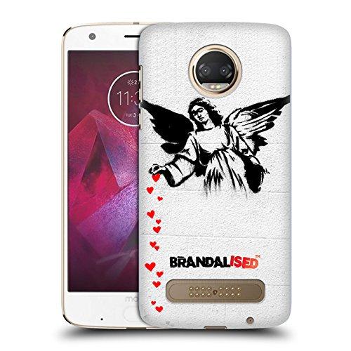 Preisvergleich Produktbild Offizielle Brandalised Herzenengel Banksy Kunst Texturierte Ruckseite Hülle für Motorola Moto Z2 Play