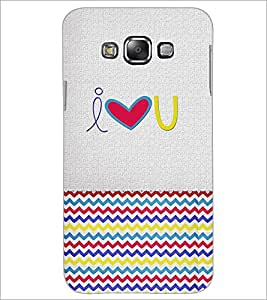 PrintDhaba quote D-4850 Back Case Cover for SAMSUNG GALAXY E7 (Multi-Coloured)