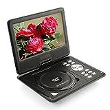 amzdeal 9 Zoll Tragbarer DVD Player 270 Grad Drehbar Unterstützt U-Scheibe