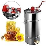 TUDIO Honigschleuder - Honig Extraktor 2 Rahmen Rostfreier Stahl Bienenwabe Trommel Spinner Bienenzucht Zentrifuge AusrüStung