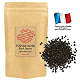 "Poivre noir en grains de Madagascar 220gr ""sachet kraft refermable"""