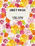 Music Sheet: Blank Music Sheets | 12 Staves | 100 Pages | 8.5 in x 11 in | 21.59cm x 27.94cm...