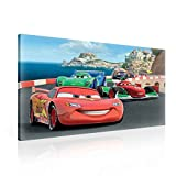 Disney Cars Lightning McQueen Bernoulli Leinwand Bilder (PPD17O1FW) - Wallsticker Warehouse - Size O1 - 100cm x 75cm - 230g/m2 Canvas - 1 Piece