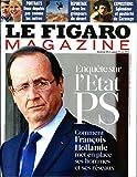 LE FIGARO MAGAZINE N°21116 22 JUIN 2012 ENQUETE SUR L'ETAT PS/ CARAVAGE: IL A...