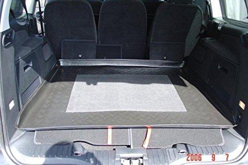 Kofferraumwanne mit Anti-Rutsch passend für Ford Galaxy II Van 5-tr. 2006- mit 3. Sitzreihe eingeklappt / grosser Laderraum