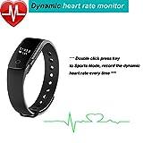 Fitness Tracker Smart Armband mit Pulsmesser, YAMAY® Bluetooth Smart Armbanduhr Sport Schrittzähler Aktivitätstracker mit Herzfrequenzmonitor / Schrittzähler / Kalorienzähler / Schlaf-Monitor, kompatibel mit iPhone IOS und Android-Handy - 3