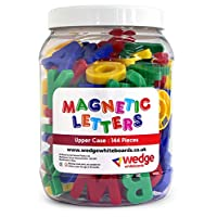 wedge Tub of 144 - Magnetic Upper Case Letters