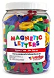 Wedge Whiteboards - Tub of 144 Magnetic Upper Case Letters, Spelling, Pre-school, Educational, Phonics, Teaching Aid