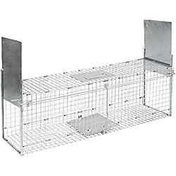 Kerbl Trampa Plegable para Animales con 2entradas 100x 28x 28cm, 299676