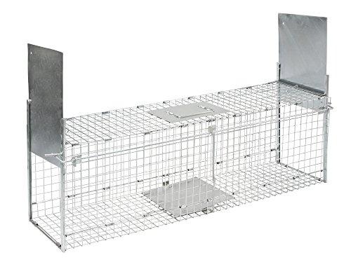 Trampa Kerbl plegable para animales con 2entradas 100x 28x 28cm, 299676