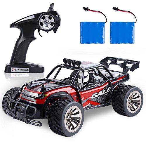 SGILE 1:16 Auto telecomandata, 2.4GHZ 14 KM/H Auto Giocattolo ad Alta velocità, 2 batterie caricabile, Fuoristrada Giocattolo regolo per Bambini, Ragazzi e Ragazze