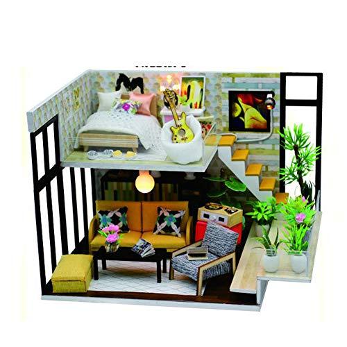 SOSAWEI DIY Puppenhaus Holz Mini Handmade Kit Für Kind Kabine Märchen Dekoration Haus, Kreative Geburtstag/Weihnachten. (Märchen-geburtstag Dekorationen)