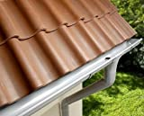 Dachrinne Rinnensatz Regenrinne GRAU 2x500cm KOMPLETT