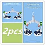 N-A Cintre Pliant électrique , Cintre de séchage de vêtements portatif pour sèche-Chaussures de Voyage , réglable , Intelligent , Pliable , Séchage Rapide , Éliminez Les acariens (2pcs)