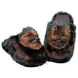 Star Wars - Pantofole, misura grande 9,5 / 10, motivo: Star Wars Chewbacca