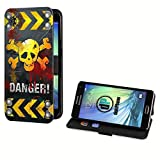 deinPhone Samsung Galaxy S5 Mini Kunstleder Flip Case Danger