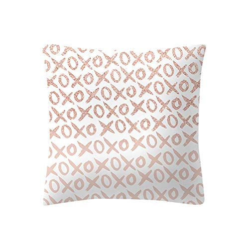 Italily rosa oro rosa cuscino copertina piazza federa casa decorazione morbido federe cuscini vintage di stampato copertura per divano decorativi letto arredo di 45x45 cm