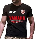 Print & Design T-Shirt Maglietta Yamaha YZF-R1 Personalizzata Nera (m)