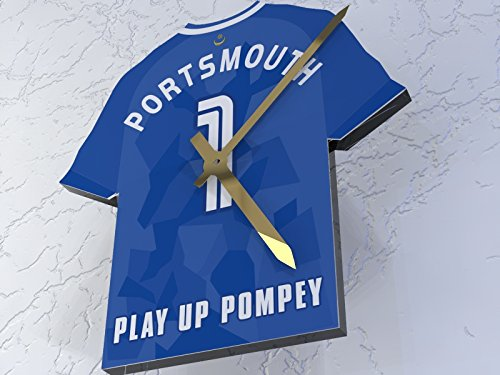 MyShirt123 PORTSMOUTH FC FOOTBALL CLUB - FOOTBALL SHIRT CLOCK - ANY NAME   ANY NUMBER - YOU CHOOSE