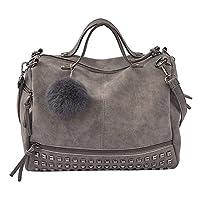 iHAZA Women Rivet Handbag Large Tote Satchel Shoulder Bag Travel Bag
