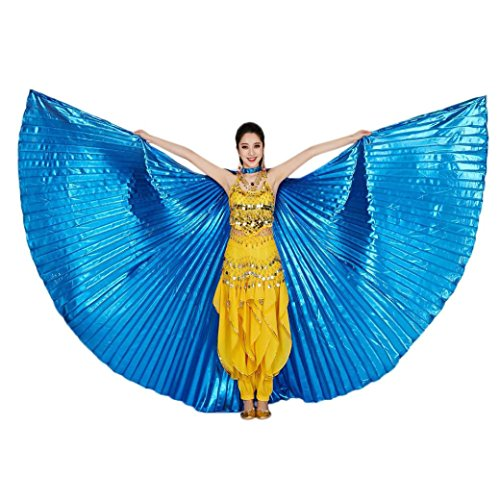 style_dress Ägypten Belly Wings Für Bauchtanz Tanz Schleier Flügel Zubehör Tanzen Kostüm Bauchtanz Zubehör No Sticks Kostüme Fasching Karneval (Blau) (Stick Frau Kostüm)