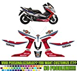 Kit adesivi decal stickers YAMAHA TMAX 2008 2011 MARTINI RACING (ability to customize the colors)