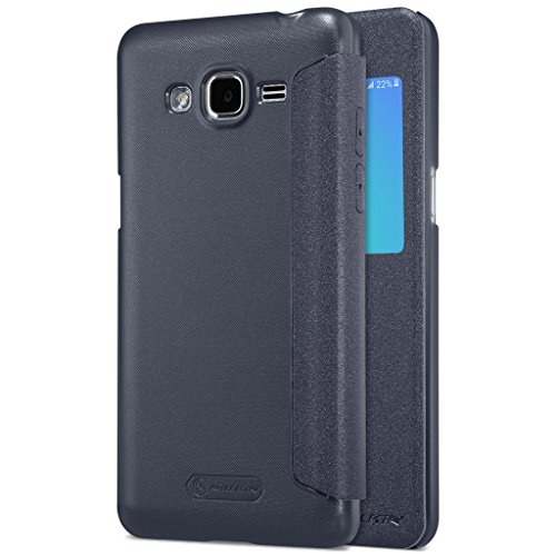 Samsung Galaxy J7 Prime Tasche Hülle - Glänzen Flip Schutzhülle für Samsung Galaxy J7 Prime - Gold Schwarz
