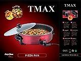 Elektrische Pfanne Pizza Pizzapfanne Partypfanne Elektropfanne Bratpfanne Ø 42/9cm Bordeaux