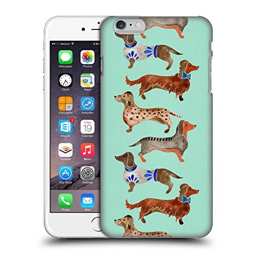 Offizielle Cat Coquillette Alpaka Tiere Ruckseite Hülle für Apple iPhone 7 / iPhone 8 Dackel Blau