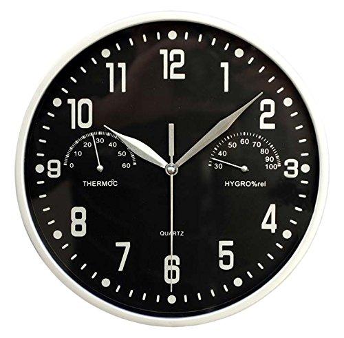 Inalsa Reloj, Negro y Plata, 22.50x22.50x4.30 cm