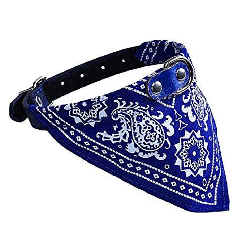 Culater® Retro Krawatte Fliege Katze Hund Haustier Bandana Halstuch Halsbänder Halskette S (blau) - 2