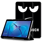 HUAWEI MediaPad T3 10 Case - Ultra Slim Lightweight Smart Shell Stand Cover Case for HUAWEI MediaPad T3 10 9.6-Inch Tablet 2017 Release, Big Eyes