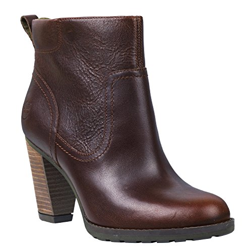 Timberland Damen EK Stratham Hights Side Zip Ankle Boots Burgundy (8615A)