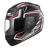 LS2 Casco Moto Ff352 Rookie Ranger, Nero/Rosso, M