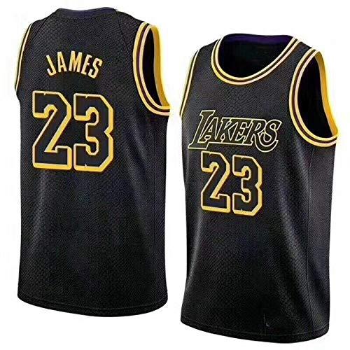 Basketball Trikot Atmungsaktiv Basketball-Weste-Shirt Komfortable, Schnelltrocknend für Basketballsp Kangrui (Schwarz, S)