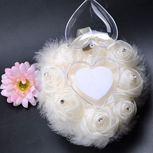 Kicode heart shaped romantic pillow for wedding cushion box gift kicode heart shaped romantic pillow for wedding cushion box gift wedding supplies amazon kitchen home junglespirit Image collections
