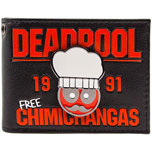 Cartera-de-Deadpool-Chef-1991-flautas-gratuitas-Negro