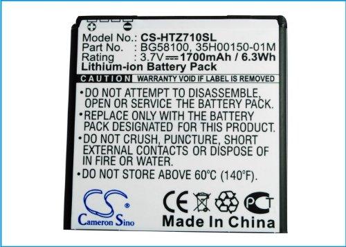 CS-HTZ710SL Akku 1800mAh Kompatibel mit [KDDI] 1SW12HT, [HTC] C110e, Doubleshot, Mytouch 4G Slide, PG59100, PH39100, PI06110, Radar, Radar 4G, Radar NA, Raider 4G LTE, Sensation, Sensation 4G, Sensat - Mytouch Slide