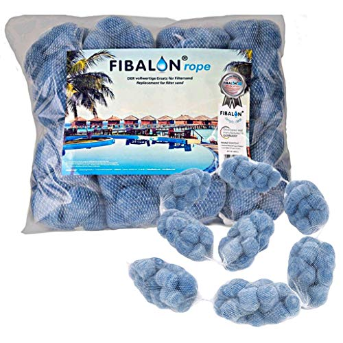 FIBALON ROPE 8 Netze hochinnovatives & hochwirksamstes Polymerfaser-Filtermaterial für Pool Sandfilteranlagen
