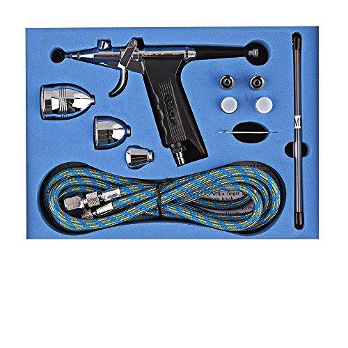 GANZTON SP166AK Dual-Action-Trigger Control Airbrush Air-Lack Steuerung Airbrush für Kunst Farbe Kuchen Dekoration Art-und-Craft-Projekte Kunstfarbe Auto Pinsel (Tattoo-maschine-reiniger)