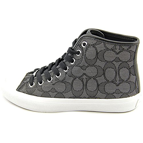 Coach Emerald Sig C/Sport Femmes Toile Baskets Black-Smokel-Black