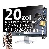 Xianan 20 Zoll Widescreen 16:9 Blickschutzfilter Blickschutzfolie Privacy Screen Folie Blickschutz Sichtschutz 17.36 * 9.76zoll/441 * 248mm